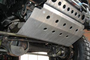 Protezione dello sterzo 6mm piastra frontale in alluminio di sostituzione-Nero-Defender
